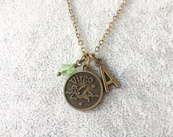 Virgo necklace,zodiac Virgo,Virgo zodiac necklace,zodiac jewelry Virgo,zodiac necklace,zodiac sign necklace,horoscope necklace,zodiac gifts