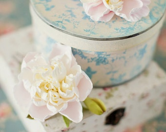 Bridal flower hair pin  Peony flower wedding accessories