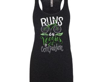 Vegan Shirt - Vegan Clothing - Vegan Tank Top - Runs on Veggies