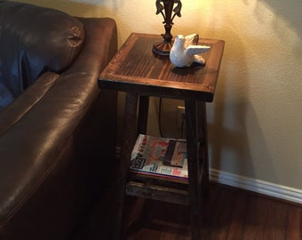 Custom Made Wooden End Table