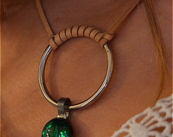 "NECKLACE ""GREEN CIRCLE"""