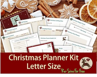Christmas planner inserts printable kit holiday journal binder planning organizer with pleasant add-ons _ Resize is Free