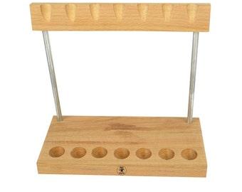 7 Piece Wooden Hammer Stand