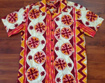 Vintage 50's Kamehameha Hawaiian Shirt - M