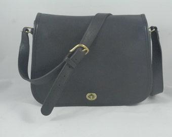 Vintage Black Coach Ranch Bag