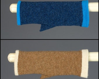 Fingerless Gloves, 100% Lambs Wool