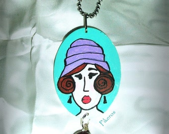 """The collection """"Retro women"""" necklace (002)"""