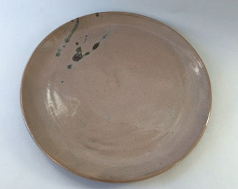 Speckled Gray Stoneware Dinner Plate