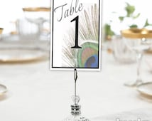 Printable Table Numbers, INSTANT DOWNLOAD, Peacock Table Numbers, Table Decorations, Banquet Decor, Reception Decor, Wedding Table Signs