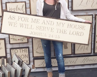 1'X4' As For Me And My House We Will Serve The Lord