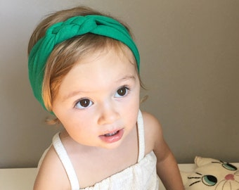 Sailor Knot Headband in Kelly Green - Baby/Toddler Sailor Knot