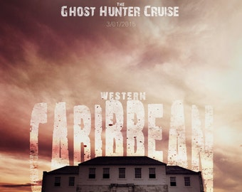 11x17 Western Caribbean Ghost Cruise Poster