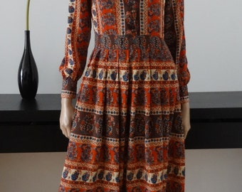Robe vintage DANIEL HECHTER Paris taille 38 / uk 10 / us 6 / made in France