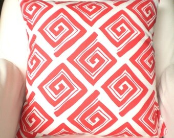 Coral Pillow Covers, Decorative Throw Pillows, Cushions, Throw Pillows for Couch Decorative Pillow, Coral White Maize One or More All Sizes