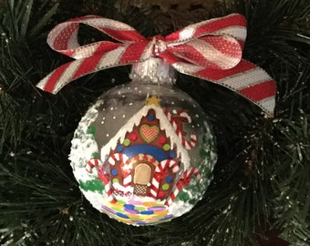 Personalized Gingerbread House Christmas Ornament