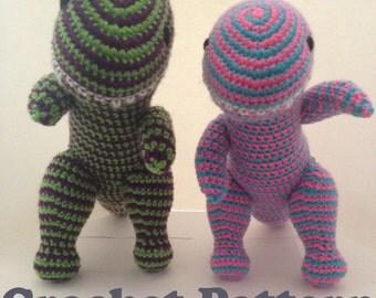 Dino Crochet Pattern, Dinosaur Pattern, Tyrannosaurus Rex, T Rex, Amigurumi Pattern, Dinosaur Toy, Dinosaur Amigurumi, PDF Crochet Pattern