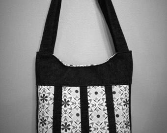 CUSTOM Denim Panel Handbag