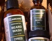 Mens Grooming Kit - Husband Gift - Fiance Gift, Boyfriend Gift - Cypress Beard Kit - Beard Oil, Wash, Balm - Beard Grooming Gift Set