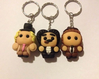 Lil Marx Brothers (Harpo, Groucho, Chico) Keyring Set