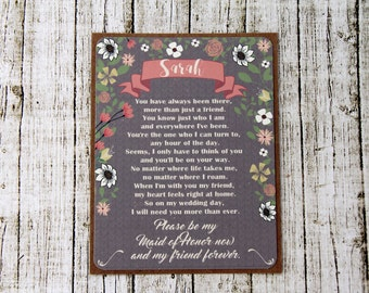 Asking Maid Of Honor - Maid Of Honor Card - Ask Maid Of Honor - Be My Maid Of Honor - Will You Be My - Matron Of Honour - Asking Gift