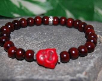 Buddha Bracelet,Wood 8mm Beads,Gemstone Buddha Charm,Spirituality,Mala,Good Luck Bracelet, Prayer,Man,Woman,Protection,Meditation,Yoga,Boho