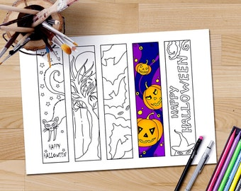 halloween coloring bookmarks printable bookmarks to color coloring bookmarks downloadable coloring pages for - Halloween Bookmarks To Color