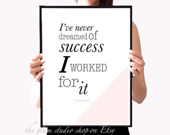 Motivational Art print Shares fashion Fashion Fashion Quotes printable art Letterpress Gift Idea for her motivational Poster