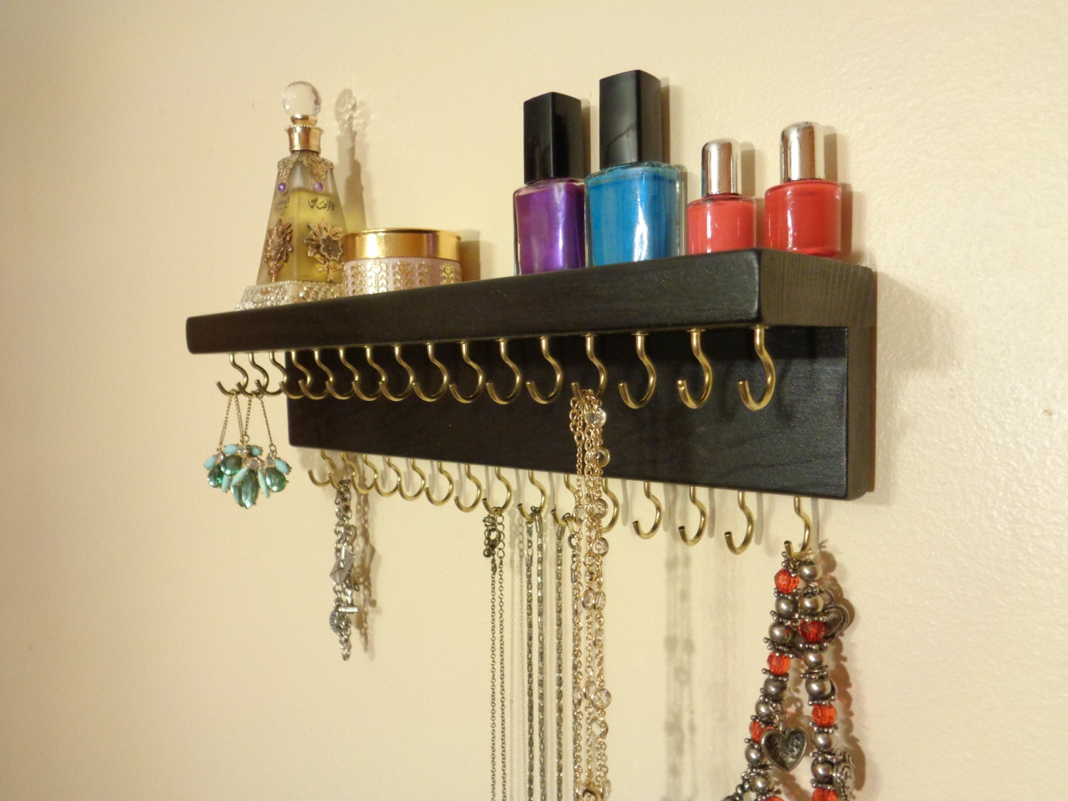 30 COLOR / FINISH CHOICES - Jewelry / Necklace Organizer - Jewelry ...
