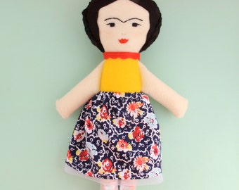 Frida Kahlo Doll/ Art Doll / Nursery Gift