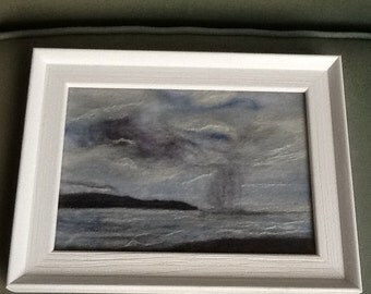 Needle felted seascape