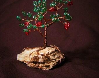 Miniture Beaded Wire Apple Tree