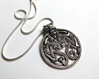 Viking Borre style pendant, Hønsi, Vik, Norway, 10th century AD - Sterling silver
