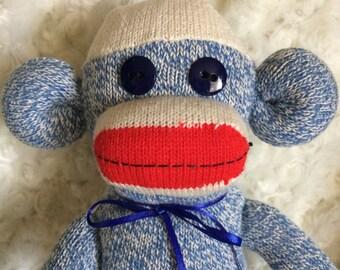 Large Blue Rockford Red Heel Sock Monkey