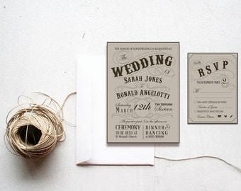 Steampunk Wedding Invitation, steampunk wedding invite,vintage wedding invitation,vintage,steampunk, victorian wedding,victorian