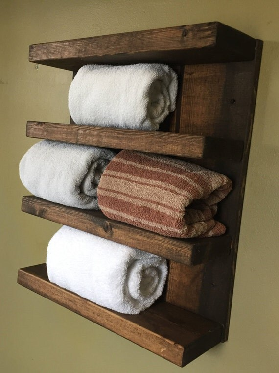 rustic design wood 4 tier shelf hotel style by gnhwoodcrafters. Black Bedroom Furniture Sets. Home Design Ideas