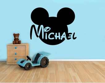 Mickey Mouse Wall Art mouse wall decal | etsy
