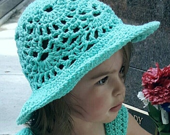 Lacy Shells Sun Hat Crochet Pattern *PDF FILE ONLY* Instant Download