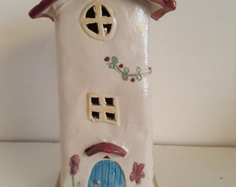 Fairy House Sculpture, Little House, Night Light,