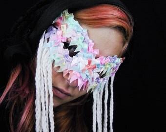 SALE - Pastel Masquerade Mask - Unique Original Avant Garde Fantasy Harajuku Kawaii Lolita Mardi Gras Halloween Costume Mask - Ready To Ship