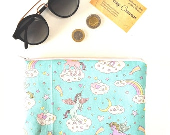 Zipper pouch brings everything from purse