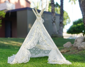 XS 3ft LACEY newborn teepee/photo prop tent/infant Lace teepee tent/doll tipi/baby teepee photo prop