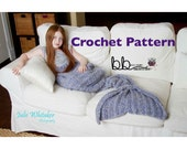 Mermaid Tail Blanket - PATTERN ONLY - Crochet - Child and Adult Size