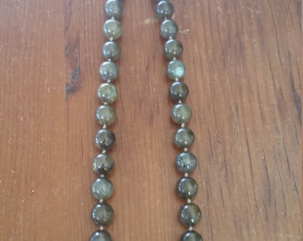 Labradorite bead necklace