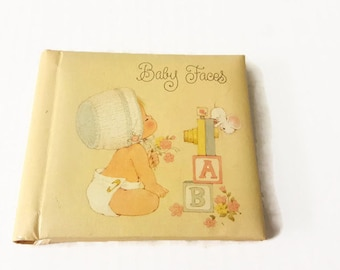 Baby Faces Vintage Hallmark Photo Album Brag Book Baby Book