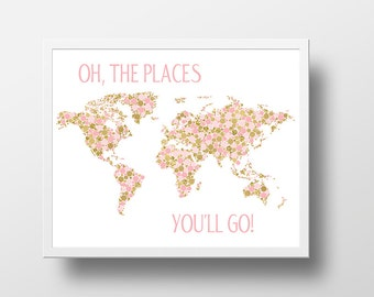 Pink map etsy gumiabroncs Images
