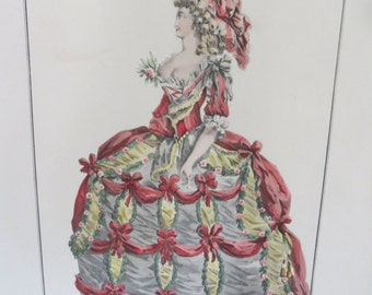 19th C Engraving of a Dress Design