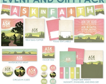 2017 LDS Mutual Theme Young Women Event And Gift Pack - Ask in Faith - Printable Kit - MB