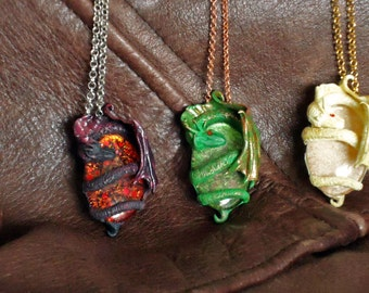 Dragon eggs necklace Game of Thrones inspired, Drogon, Viserion, Rhaegal