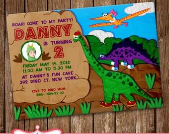 Dinosaurs Invitation Dinosaurs Card Party Invitation Birthday Card LL-0170