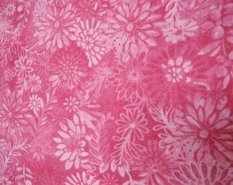 "108"" pink floral Backing fabric. 108 inch wide cotton quilt quilting sheeting Classic Cottons"
